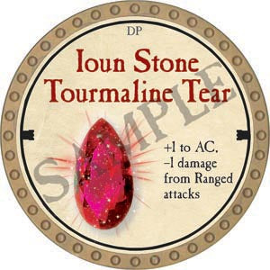 Ioun Stone Tourmaline Tear - 2020 (Gold)