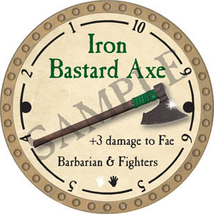 Iron Bastard Axe - 2017 (Gold)