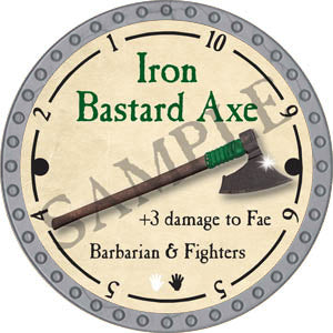 Iron Bastard Axe - 2017 (Platinum)
