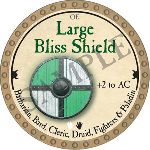 Large Bliss Shield - 2018 (Gold)