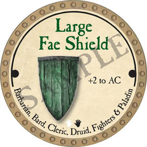 Large Fae Shield - 2017 (Gold)