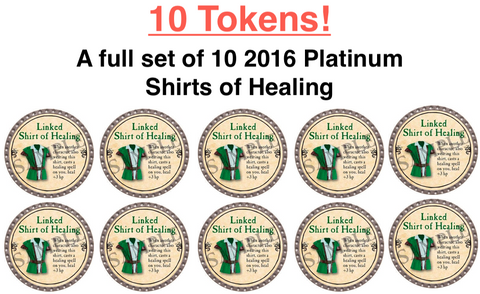 Linked Shirt of Healing Set - 10 Tokens - 2016 (Platinum) - C22
