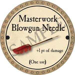 Masterwork Blowgun Needle - 2017 (Gold)