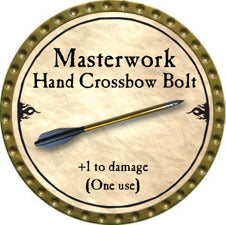 Masterwork Hand Crossbow Bolt - 2010 (Gold)