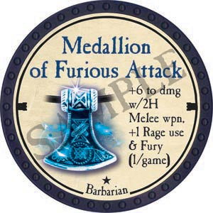 Medallion of Furious Attack - 2020 (Blue) - C67