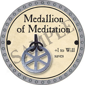 Medallion of Meditation - 2017 (Platinum)