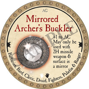 Mirrored Archer's Buckler - 2018 (Gold) - C12