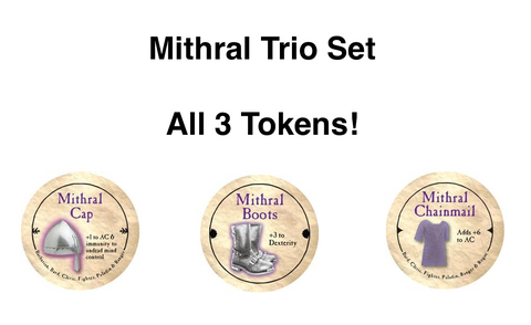 Mithral Trio Set (3 Tokens) (Gold) - C3