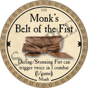 Monk's Belt of the Fist - 2018 (Gold)