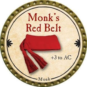 Monk's Red Belt - 2015 (Gold) - C37