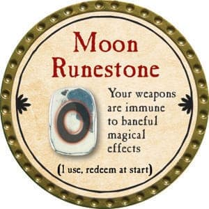 Moon Runestone - 2015 (Gold)