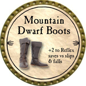 Mountain Dwarf Boots - 2012 (Gold)