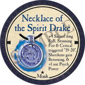 Necklace of the Spirit Drake - 2020 (Blue) - C26
