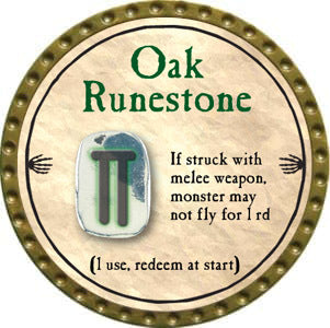 Oak Runestone - 2012 (Gold)