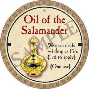 Oil of the Salamander - 2020 (Gold)