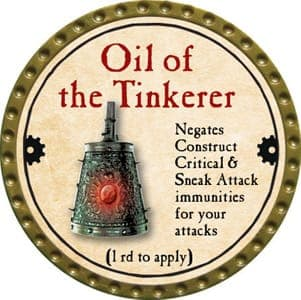 Oil of the Tinkerer - 2013 (Gold)
