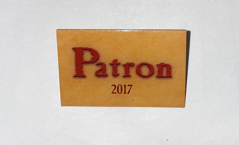 Patron Pin - 2017 (not valid for current year)