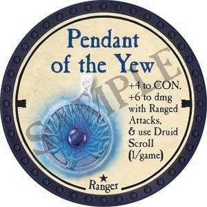 Pendant of the Yew - 2020 (Blue) - C26