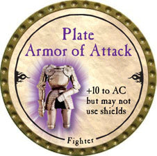 Plate Armor of Attack - 2010 (Gold)