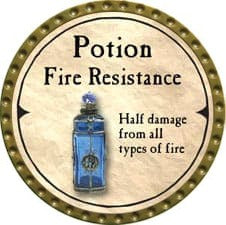 Potion Fire Resistance - 2007 (Gold)