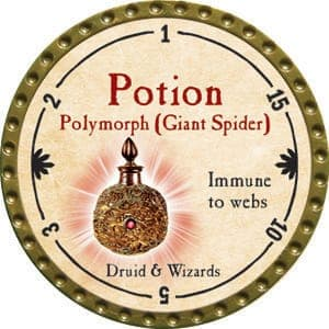 Potion Polymorph (Giant Spider) - 2015 (Gold) - C26