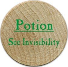 Potion See Invisibility - 2006 (Wooden) - C37