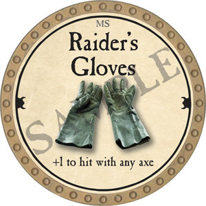 Raider's Gloves - 2018 (Gold)
