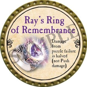 Ray's Ring of Remembrance - 2016 (Gold)
