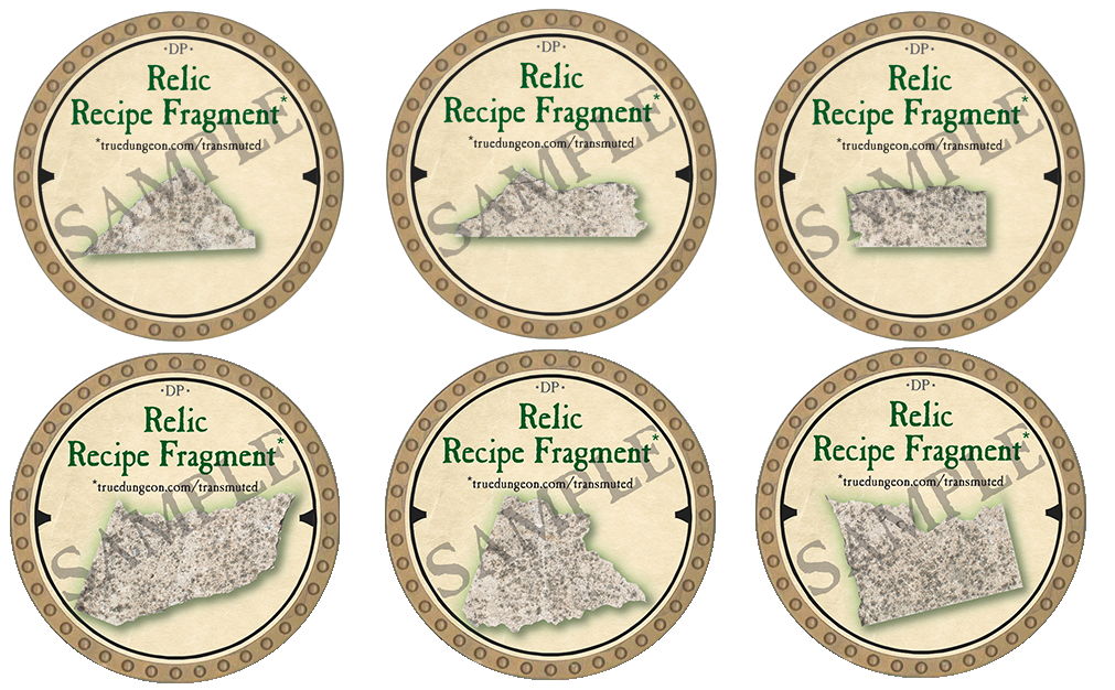Relic Recipe Fragment Set - 2019 (Gold)