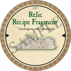 Relic Recipe Fragment 2 - 2019 (Gold) - C007