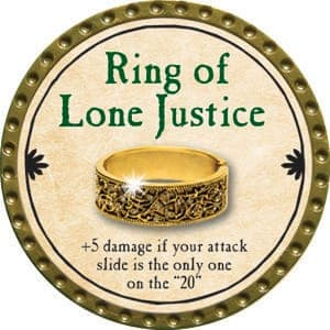 Ring of Lone Justice - 2015 (Gold)
