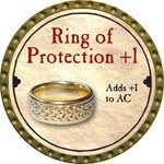 Ring of Protection +1 - 2008 (Gold)
