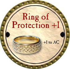 Ring of Protection +1 - 2011 (Gold)