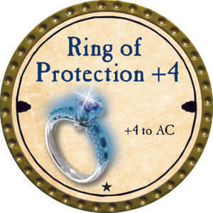 Ring of Protection +4 - 2014 (Gold) - C49