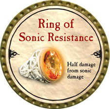 Ring of Sonic Resistance - 2010 (Gold) - C26