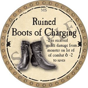 Ruined Boots of Charging - 2018 (Gold)