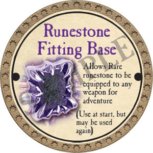 Runestone Fitting Base - 2017 (Gold)