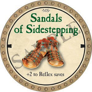 Sandals of Sidestepping - 2020 (Gold)