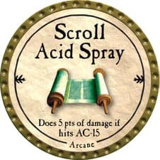 Scroll Acid Spray - 2009 (Gold)