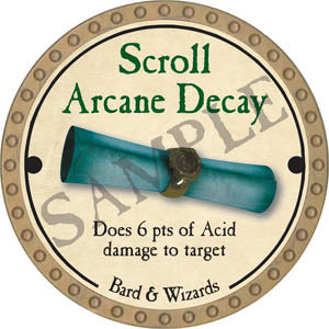 Scroll Arcane Decay - 2017 (Gold)
