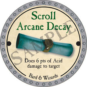 Scroll Arcane Decay - 2017 (Platinum)