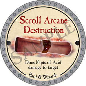 Scroll Arcane Destruction - 2017 (Platinum)