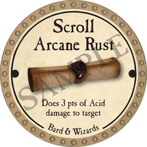 Scroll Arcane Rust - 2017 (Gold)