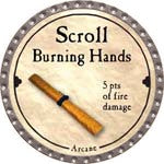 Scroll Burning Hands - 2008 (Platinum) - C37