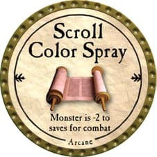 Scroll Color Spray - 2009 (Gold)