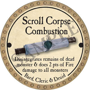 Scroll Corpse Combustion - 2017 (Gold)