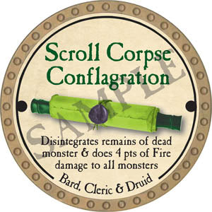 Scroll Corpse Conflagration - 2017 (Gold)