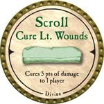 Scroll Cure Lt. Wounds (UC) - 2007 (Gold)