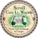 Scroll Cure Lt. Wounds (UC) - 2016 (Platinum)