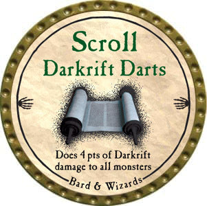 Scroll Darkrift Darts - 2012 (Gold)